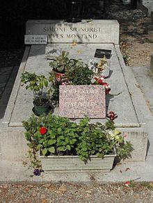 Tomba di Simone Signoret e Yves Montand