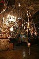 Tomb of the Virgin Mary. Lanterns in the lower church.jpg