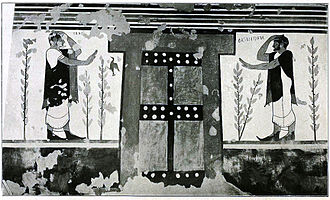 Tomb of the Augurs - Painting on the rear wall
