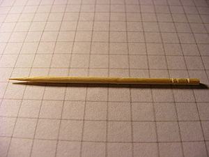 A super micro image of a toothpick. Each squar...