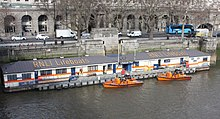 Floating lifeboat station on the Thames