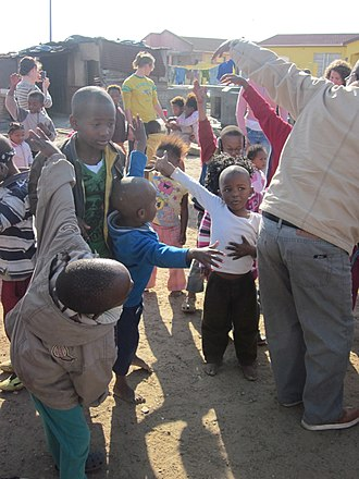 Township (South Africa) - Children in a township near Cape Town