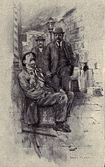 Tr - nyc police commissioner 1894 - jacob riis bio - the making of an american - illustration named one was sitting asleep on a buttertub.jpg