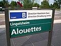 TramStrasbourg lineB Alouettes Panneau.JPG