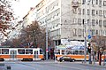 Tram in Sofia near Palace of Justice 2012 PD 058.jpg
