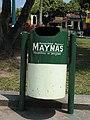 Trash bin Peru Iquitos Plaza de Armas.jpg