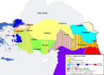 Le red�coupage de l Empire ottoman selon le trait� de S�vres.