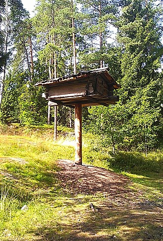 Seurasaari - Image: Tree Storehouse at Seurasaari