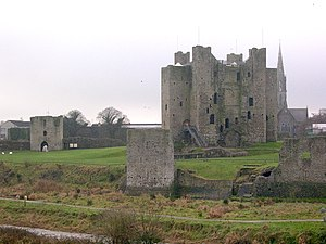 Norman keep in Trim, County Meath.