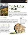 Triple Lakes Trail Guide Page 1 (8120413180).jpg