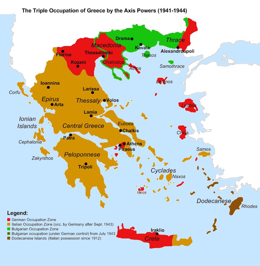 Triple Occupation of Greece