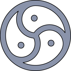 Simple triskelion with points, unfilled. For u...