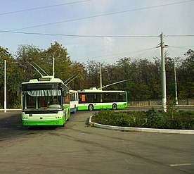 Trolleybuses in Luhansk, Ukraine.jpg