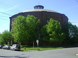 Troy Gas Light Company - Image: Troy gasholder building