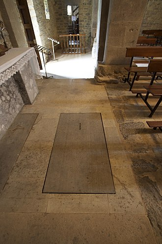 Silo of Asturias - Presumed tombs of Adosinda and Silo in the church of Santianes de Pravia.