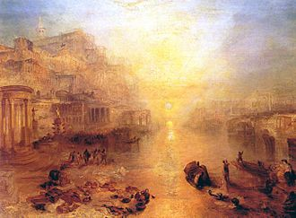 Ovid -  Ovid Banished from Rome (1838) by J.M.W. Turner.