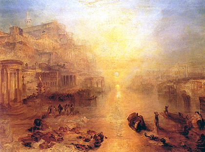 Ovid Banished from Rome (1838) by J.M.W. Turner. Turner Ovid Banished from Rome.jpg