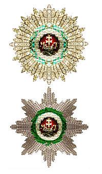 Twee sterren van de Orde van Sint Stefanus Hongarijet.jpg