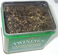 Twinings Gunpowder tea in tin.jpg