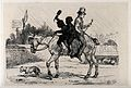 Two young chimney sweeps on a decrepit horse, in a yard; a m Wellcome V0023215.jpg