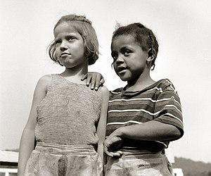 Two young girls at Camp Christmas Seals, {{w|H...