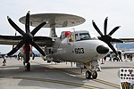 U.S.NAVY E-2D Advanced Hawkeye(168991) of VAW-125 right front view at MCAS Iwakuni May 5, 2018 03.jpg