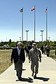 U.S. Army Gen. Charles H. Jacoby Jr., right, the commander of the North American Aerospace Defense Command (NORAD) and U.S. Northern Command (USNORTHCOM), escorts Secretary of Defense Chuck Hagel during Hagel's 130627-F-VT441-002.jpg