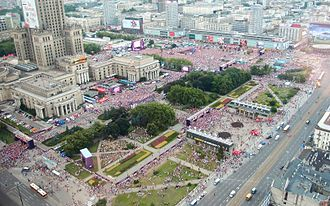 UEFA Euro 2012 - Warsaw fan zone, view during a game, 16 June