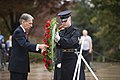 UK Foreign Secretary Philip Hammond lays a wreath at the Tomb of the Unknown Soldier in Arlington National Cemetery (22305197333).jpg