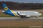 UR-GAW Boeing B737-5YD B735 - AUI (16138910839).jpg