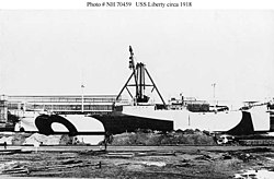 USAT Liberty in der Werft (etwa September 1918)