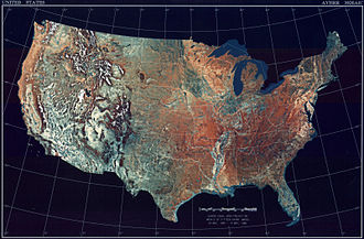 Outline of the United States - An enlargeable topographic map of the contiguous United States