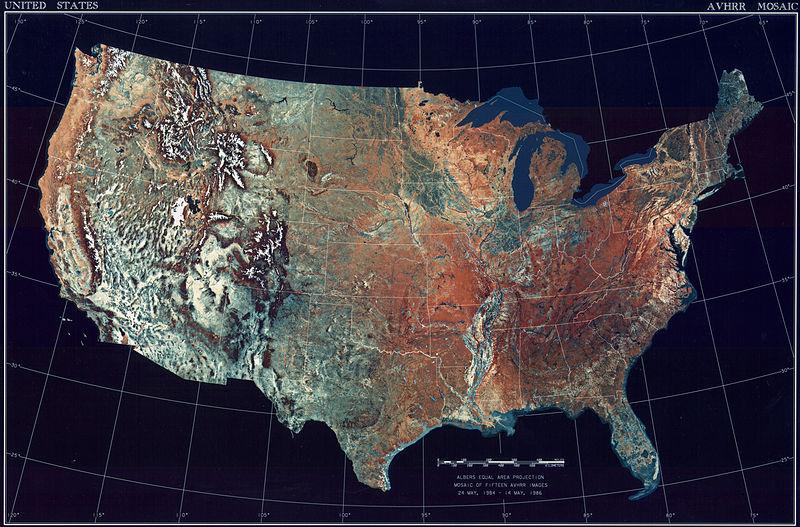 Satellitenbild Vereinigte Staaten