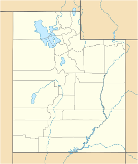 A map of Utah showing the location of the Confusion Range