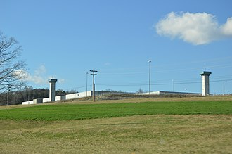 United States Penitentiary, Lee - Overview from U.S. Route 58