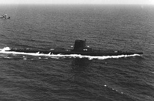 USS Argonaut (SS-475) - Image: USS Argonaut (SS 475) 22 July 1963