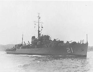 USS Bayonne (PF-21) - Image: USS Bayonne (PF 21)