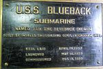 USS Blueback SS581 Commissioning Plaque.jpg