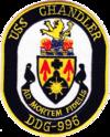 USS Chandler (DDG-996) crest
