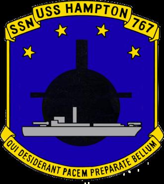 USS Hampton (SSN-767) - Image: USS Hampton SSN 767 Crest