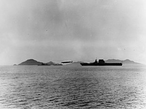 Fleet problem - USS ''Los Angeles'' moored to USS ''Patoka'', along with other ships off Panama during Fleet Problem XII.