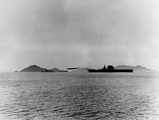 Fleet problem - USS Los Angeles moored to USS Patoka, along with other ships off Panama during Fleet Problem XII.