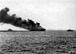 USS Ommaney Bay (CVE-79) burning 1945.jpg