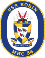 Crest of USS Robin (MHC-54)