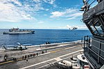 USS Ronald Reagan conducts a replenishment-at-sea. (28939683523).jpg