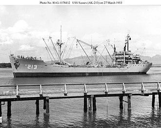 USS Sussex (AK-213) - Image: USS Sussex (AK 213)