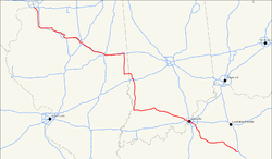 Karte des U.S. Highways 150
