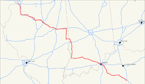 U.S. Route 150 - Image: US 150 map