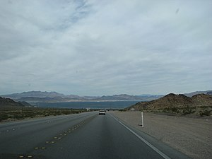 U.S. Route 93 in Nevada - Southbound US 93 between Boulder City and the Hoover Dam