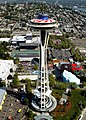 US Navy 030529-N-9500T-003 The top of Seattle's Space Needle, which has been painted in Red, White and Blue for Memorial Day.jpg
